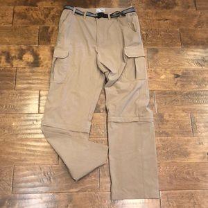 LL Bean Men's Hiking Fishing Nylon ZIP off Pants